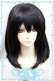 Wholesale Heat Resistant gt gt gt gt Strike The Blood Himeragi Yukina cm black Cosplay fashion wig
