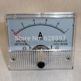 Wholesale DC A AMP Analog Current Panel Meters Ammeter Amperimetro Ampere Frequency Meter Measurer A High Quality Assurance