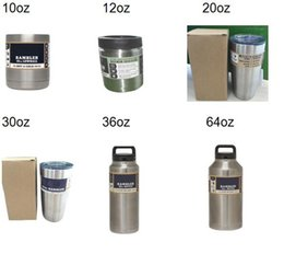Wholesale YETI with lid oz oz oz oz oz oz oz YETI Cups beer Mug Bottle Colster Rambler Tumbler Stainless Steel fast ship