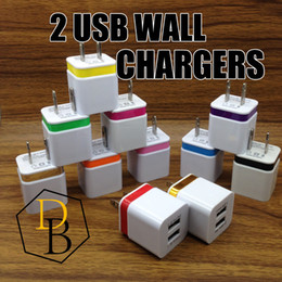 Wholesale Wall Chargers V A US Plug usb charger adapter Universal AC Power Adapter For Iphone Samsung S5 S4 Note LG HTC