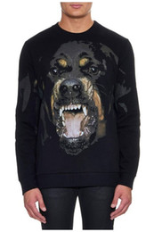 Wholesale Casual Autumn Winter Sports Hoodies - 2016 Autumn winter dog printed hoodie famous rottweiler dog men and women casual sweatshirts long sleeve hoodie sports hoody mens pullover