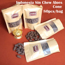 Wholesale 2017 hot Aromaticas Encens Incenso bag Indonesia Sin Chew Aloeswood Incense Cone Smoke Backflow Indoor Burn Refreshing Air