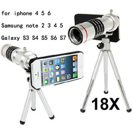 Wholesale-mobile phone 18x Zoom optical Telescope telephoto Lens For iphone 5 5c 6 6S plus Samsung note 2 3 4 5 Galaxy S3 S4 S5 S6 S7 edge