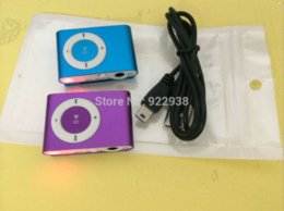 Hot selling!!NEW MINI Clip MP3 Player with card slot compatible 8GB- 1GB TF card mp3 +USB cable+retail zip bags