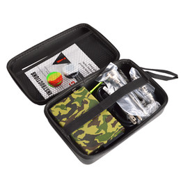 Wholesale Newest Temperature Control Case Dnail Enail Kit Camouflage Green Black Walnut With US mm coil heater Quartz Titanium in Black Bag