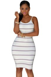 Hot Sexy Ivory Black Navy White Stripes Open Back Bodycon Dress 22333 Black Friday Classic Low-Cut Woman Split Bodycon Dress Striped