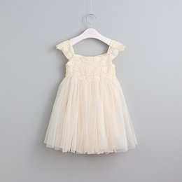 Wholesale Leather Lace Winter Dress - 2016 New Lace Sparkle Mesh Dress For Girl Princess Kids Christmas Party Clothing Wholesale 6 pcs lot Free Shipping