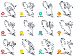 Valentine's Day Gift Zodiac Rings Korean Jewelry 925 Sterling Silver Ring Ms. Retro Ring Opening Adjustable Couple Ring