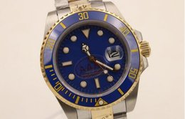Wholesale Luxury brand watch men automatic movment stainless steel ceramic bezel blue dial sapphire glass LB REVIEW mens dress wristwatches