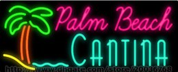 """Palm Beach Cantina Neon Sign Handcrafted Custom Real Glass Tube Restaurant Motel Island Sandy Advertisement Display LED Logo Sign 32""""X13"""""""