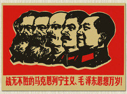 Wholesale Multi style Large Vintage Chinese Cultural Revolution Poster Home Decoration Detailed Antique Poster Wall Chart Retro Matte Kraft Paper A1