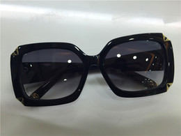 new fashion sunglass women brand designer Hortensia sunglass square frame flower logo retro classical style
