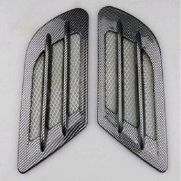 Wholesale New x Car Side Carbon Fiber Air Vent Cover Hole Intake Duct Flow Grille Decoration Sticker for VW Cruze Audi A3 A4 BMW F10 Polo