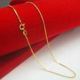 Don't rub off the gold necklace gold 24K GOLD MENS LADIES imitation imitation gold box chain short chain clavicle