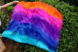 2016 high sales of handmade 100% silk belly dancing veils of five colors 250 * 114cm