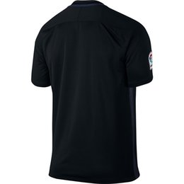 Wholesale TOP QUALITY Blank Soccer Jersey Red Black white blue Home Away black football shirt