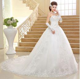 Wholesale Silk Satin Wedding Skirt - Shoppingabc Women's Strapless Bead Beach Draggle-tail Wedding Dresses Gown