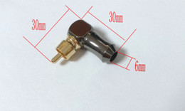 1PCS brass Audio Connector RCA Right Angle RCA plug Audio Video connector soldering