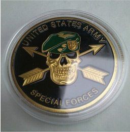 Wholesale U S ARMY SPECIAL FORCES Challenge Coin DHL this we ll defend american gold coin