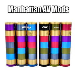 V2 fuhattan en Ligne-2016 Manhattan AV Mods E Cigarette Mods Raibow AV Manhattan Mod Ringer 22mm Diamètre 510 fil VS mods Fuhattan V2