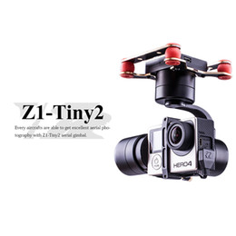 Wholesale TINY2 Axis Brushless Gimbal Metal mAh Brushless Servo Motor controlled System Stabilizer with S S Li Po Battery for RC Aircraft
