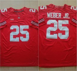 Wholesale 25 Mike Weber J T Barrett Nick Bosa Ohio State Buckeyes College Football Jerseys New Style Cheap Stitched Jersey