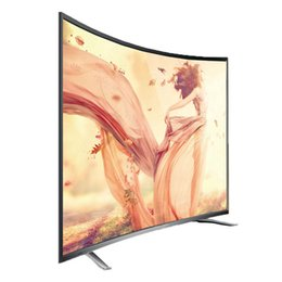 Wholesale 55 quot Full HD LED Curve TV HD Television Clear Vision Ultra thin Dropshipping Service High Quality Dropshipping Service