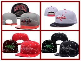 Wholesale 4 Colors Capitals Snapback Men s Hats Embroider Team Logo Sports Adjustable Ice Hockey Caps Washington Hip Hop Flat Visor Hat