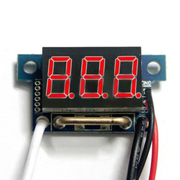 Wholesale quot Red LED Digital DC Ammeter AMP Mini Current Panel Meter DC A Stock Offer