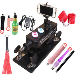 Automatic Sex Machine Gun Set for Men  Women Love Machine with Masturbation Cup, Big Dildo,Couple Game Sex Handcuffs and Leather Whip etc