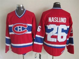 Wholesale Mats Naslund Jersey NHL Ice Hockey MONTREAL CANADIENS Stadium Series Winter Classic CCM Vintage Throwback Red White