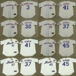 Wholesale Men JON MATLACK CASEY STENGEL TOM SEAVER TUG McGRAW BUD HARRELSON New York Mets Throwback Away Baseball Jersey stitched