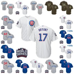 Wholesale 2016 World Series patch Youth chicago cubs Javier Baez Kris Bryant Rizzo Lester kids Authentic baseball jersey stitched size S XL
