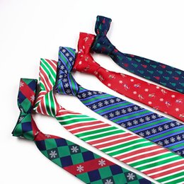 TIESET Free Shipping Christmas 2017 New Necktie Christmas Element Necktie High Quality Christmas Tree Candy Snowflake Gift For Man