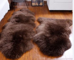 Wholesale 2P Double real natural sheepskin rug cm sheep skin rug for home decoration carpets for living room colors available