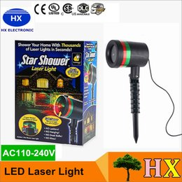 Wholesale Outdoor Star shower LED laser light project christmas lights red green thousands laser lights AC110 V for garden Christmas party decor