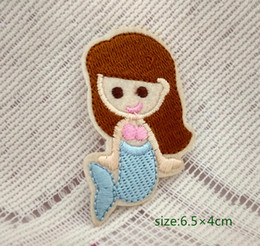 mermaid sea-maid motif iron-on HOTFIX patch applique girl embroidery Ocean fair Cartoon Shirt Kids Toy Gift baby Decorate Individuality