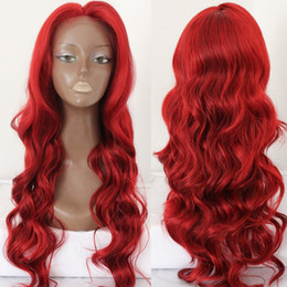 New Arrival Heat Resistant African American Black Women Hairstyle Synthetic Lace Front Wig Red Color Lace Front Wigs for Fashion Black Women