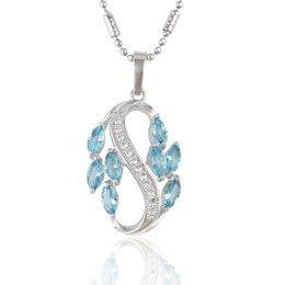 Wholesale Rhodium Plated Copper Necklace Pendant Christmas Gift Quality Mix Color Zirconia Hot Sell Copper Jewelry Pendant From Xuping Wholsale