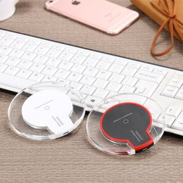 new Luxury Qi Wireless Charger clear led Charging dock pad For Samsung S9 Edge s7 edge note 8 S8