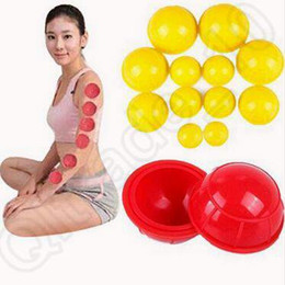 Wholesale 3 Couleur ensemble Corps de la famille Cupping Massage Helper Anti Cellulite Vacuum Silicone Cupping Cups chinoise Cupping Coupe médicale CCA4865 set