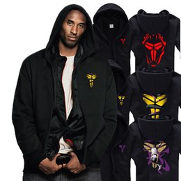 Wholesale large size s xxxl New arrival Kobe Bryant Black Mamba Spring Autumn Winter Sweatshirt hoodie Men and Women Basketball Hoodies Jackets