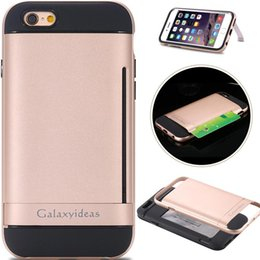 Wholesale iphone s Stand Case Beatles in Kickstand Card Slot Gold Hard Back Cover