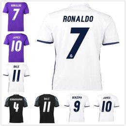 Wholesale 2017 Soccer Jerseys Madrid Football Shirts Benzema Ronaldo camisetas de futbol Modric Kroos Sergio Ramos Bale Marcelo Hot Sale