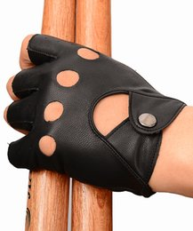 Unisex Artificial Leather Gloves Black color Half Finger in Summer Driving cycling Biker Outdoors Sports Gloves