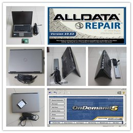 Wholesale automotive software new v10 laptops with alldata and mitchell on demand diagnostic software for cars and heavy trucks d630 computer