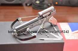Wholesale Quality Handheld Full CNC Machining IN1 Mini Crossbow With Hard Anodized Aluminum Slingshot Model Archery With Red Laser SIght Mini Bow