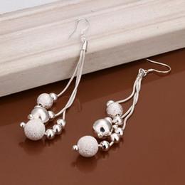 E006 Wholesale silver plated Dangle earrings for women wedding jewelry Long Earrings cluaise auskarai orecchini drop earrings