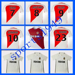 Wholesale 16 Monaco Maillots Chemise BERBATOV MOUTINHO BERNARDO Grossistes home away rugby Jersey Sportswear