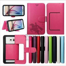 Para LG G5 CASE Cartera universal Flip PU Leather Lichee patrón de los casos Tarjeta de crédito titular de la portada para 3,5-5,7 pulgadas de teléfono celular HTC Sony cell phones leather cases for sale desde teléfonos celulares casos de cuero proveedores